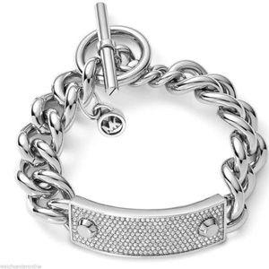 Michael Kors Link Bling Silver Bracelet, UNISEX